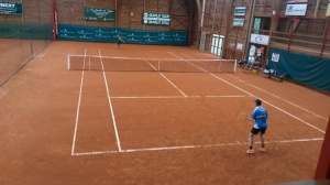 One of the indoor courts